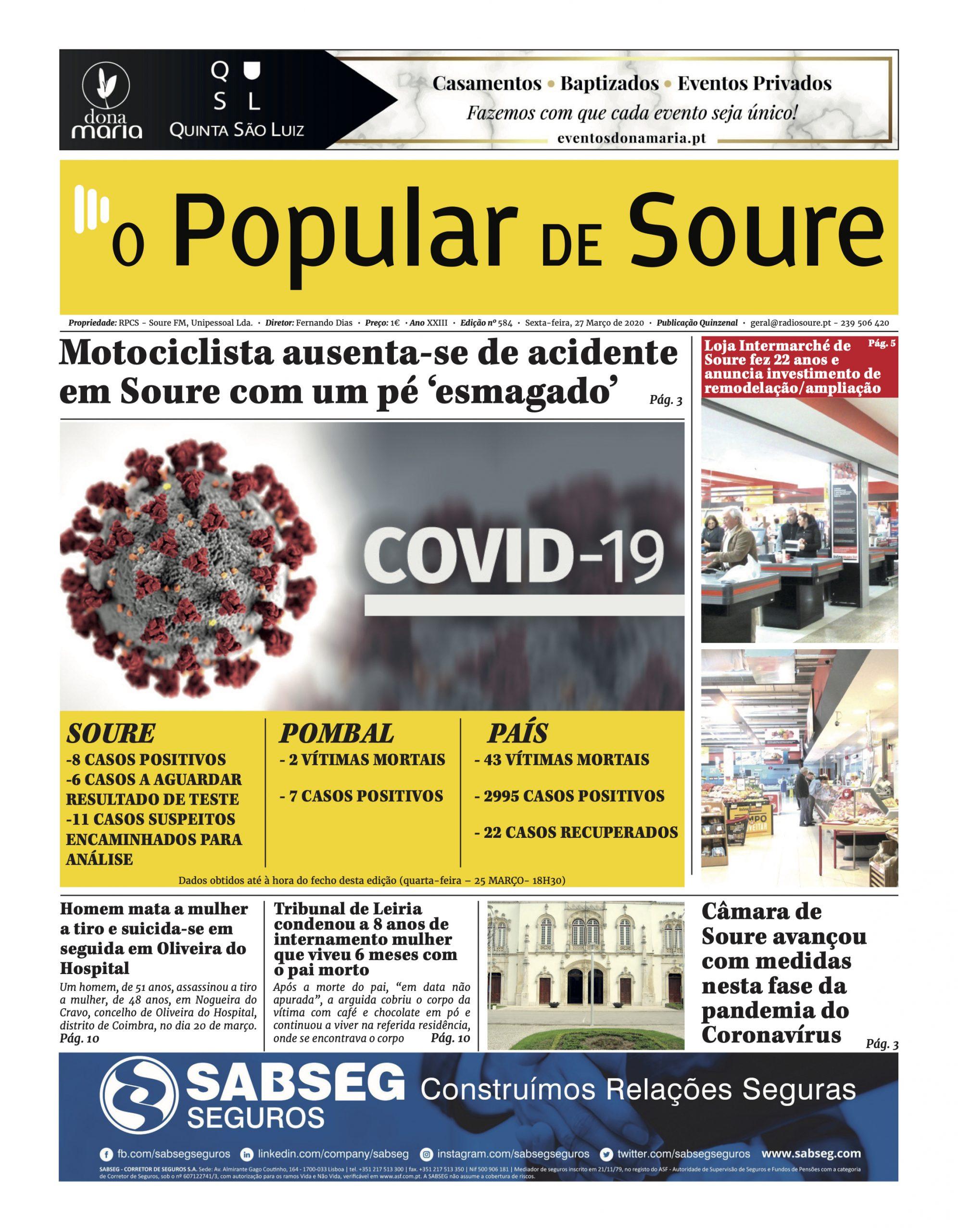 """JORNAL """"O POPULAR DE SOURE"""" Nº 584"""