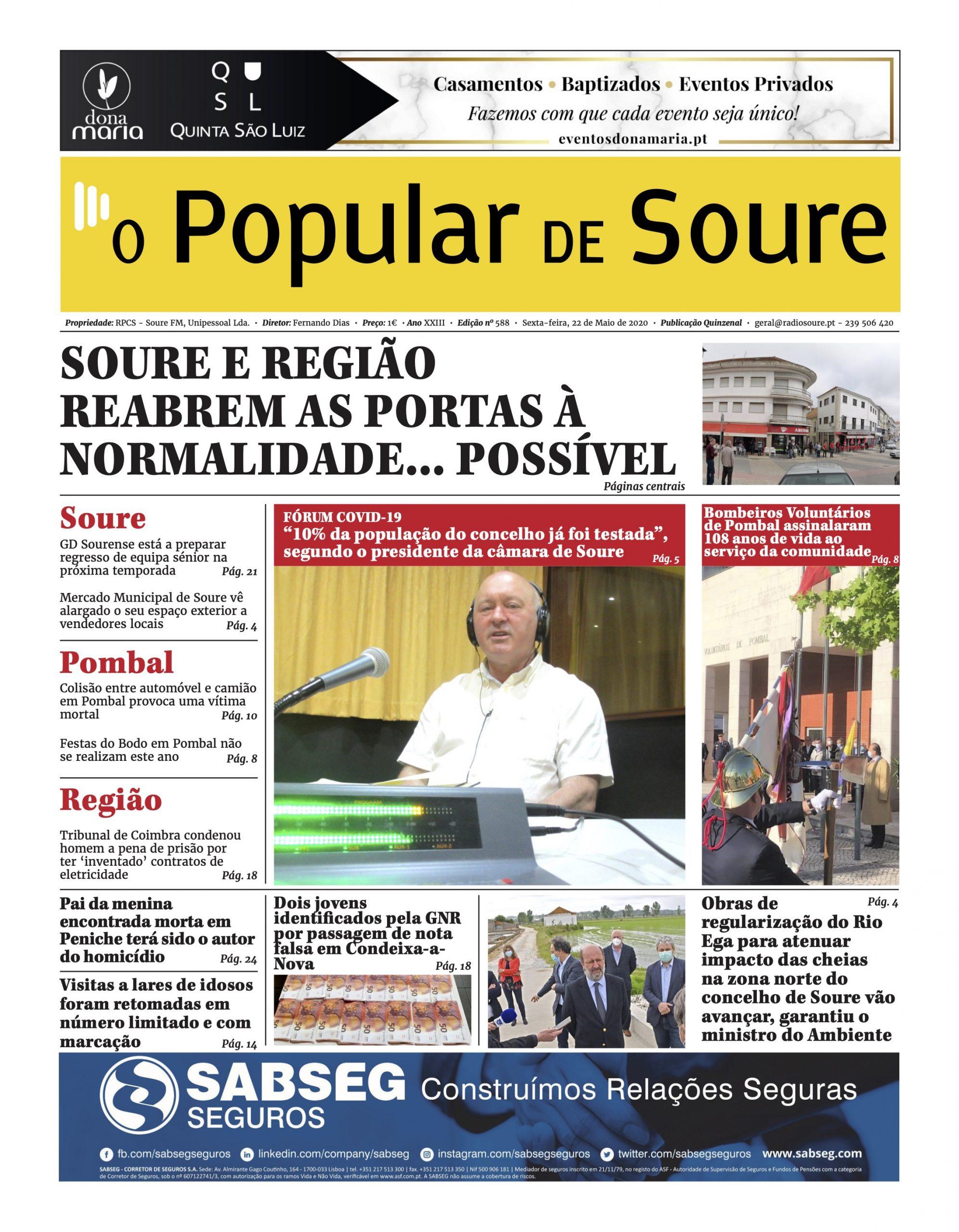 """JORNAL """"O POPULAR DE SOURE"""" Nº 588"""