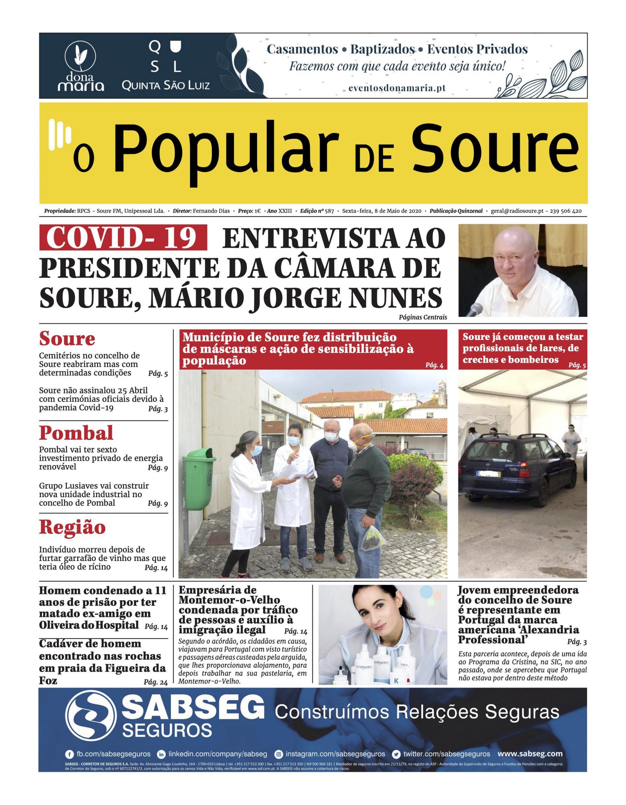 """JORNAL """"O POPULAR DE SOURE"""" Nº 587"""