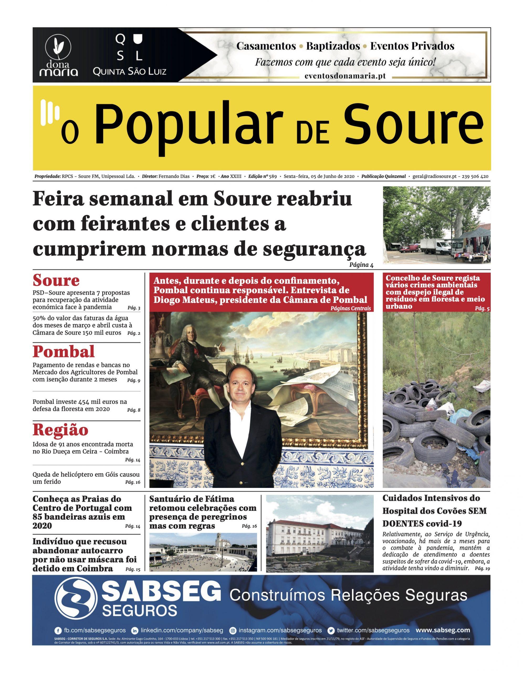 """JORNAL """"O POPULAR DE SOURE"""" Nº 589"""