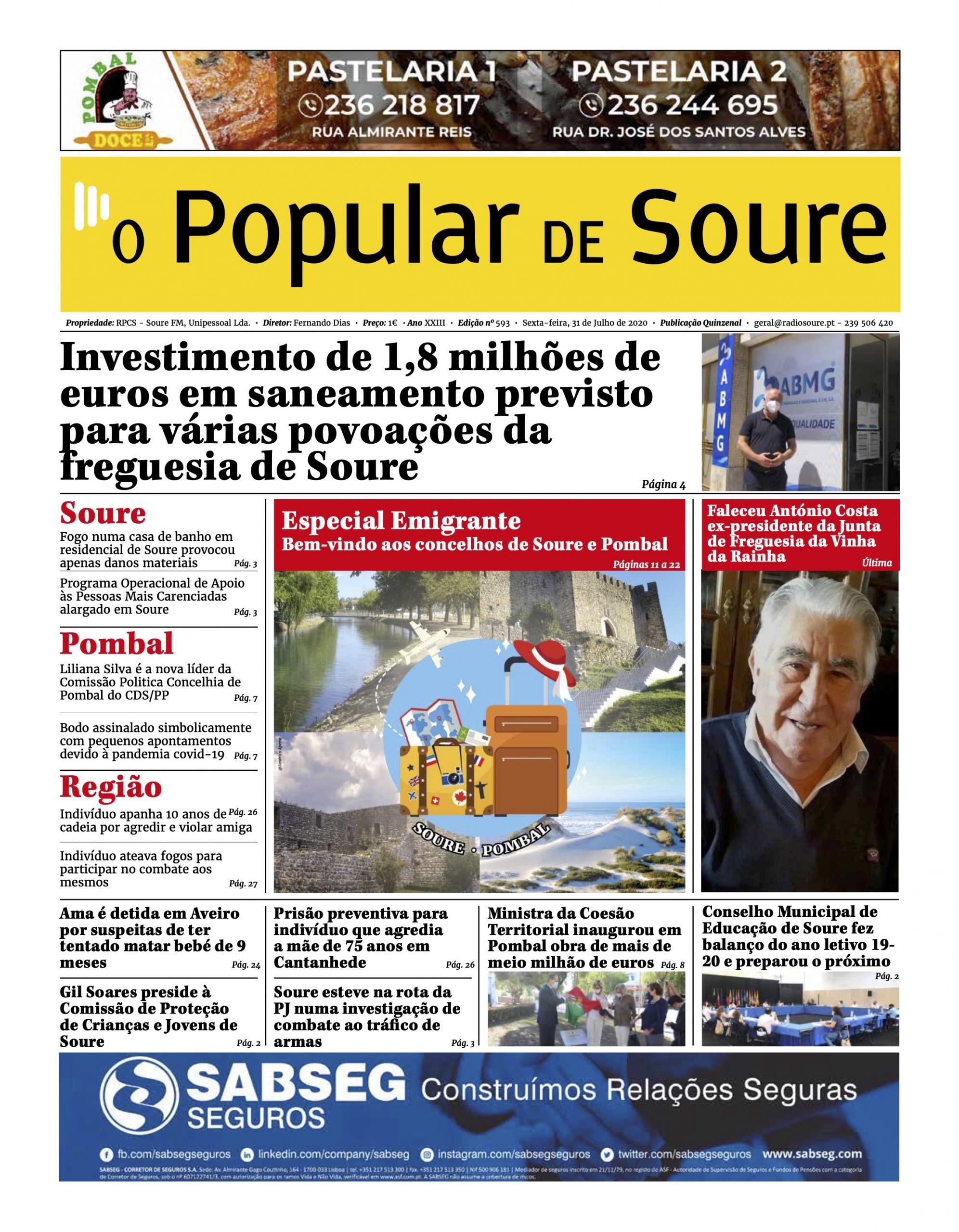 """JORNAL """"O POPULAR DE SOURE"""" Nº 593"""