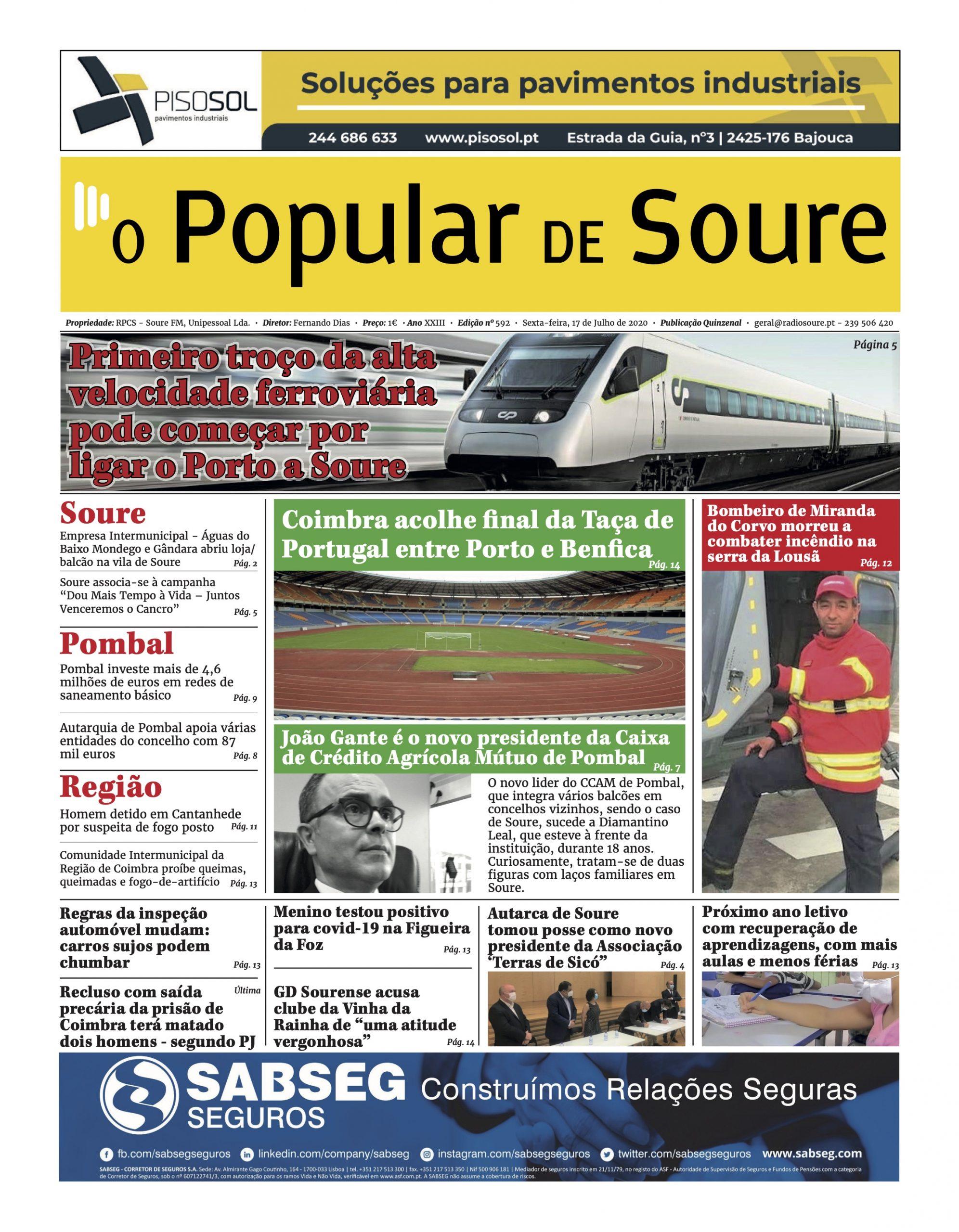 """JORNAL """"O POPULAR DE SOURE"""" Nº 592"""