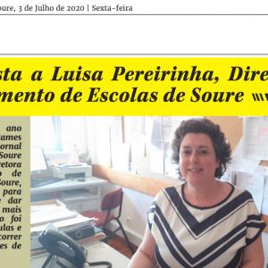 LUÍSA PEREIRINHA – DIRETORA DO AGRUPAMENTO DE ESCOLAS DE SOURE EM ENTREVISTA AO 'POPULAR DE SOURE'