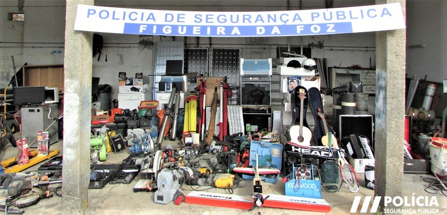 PSP Apreendeu Centenas De Objetos Roubados Em Residências, Garagens E Obras De Construção Na Figueira Da Foz