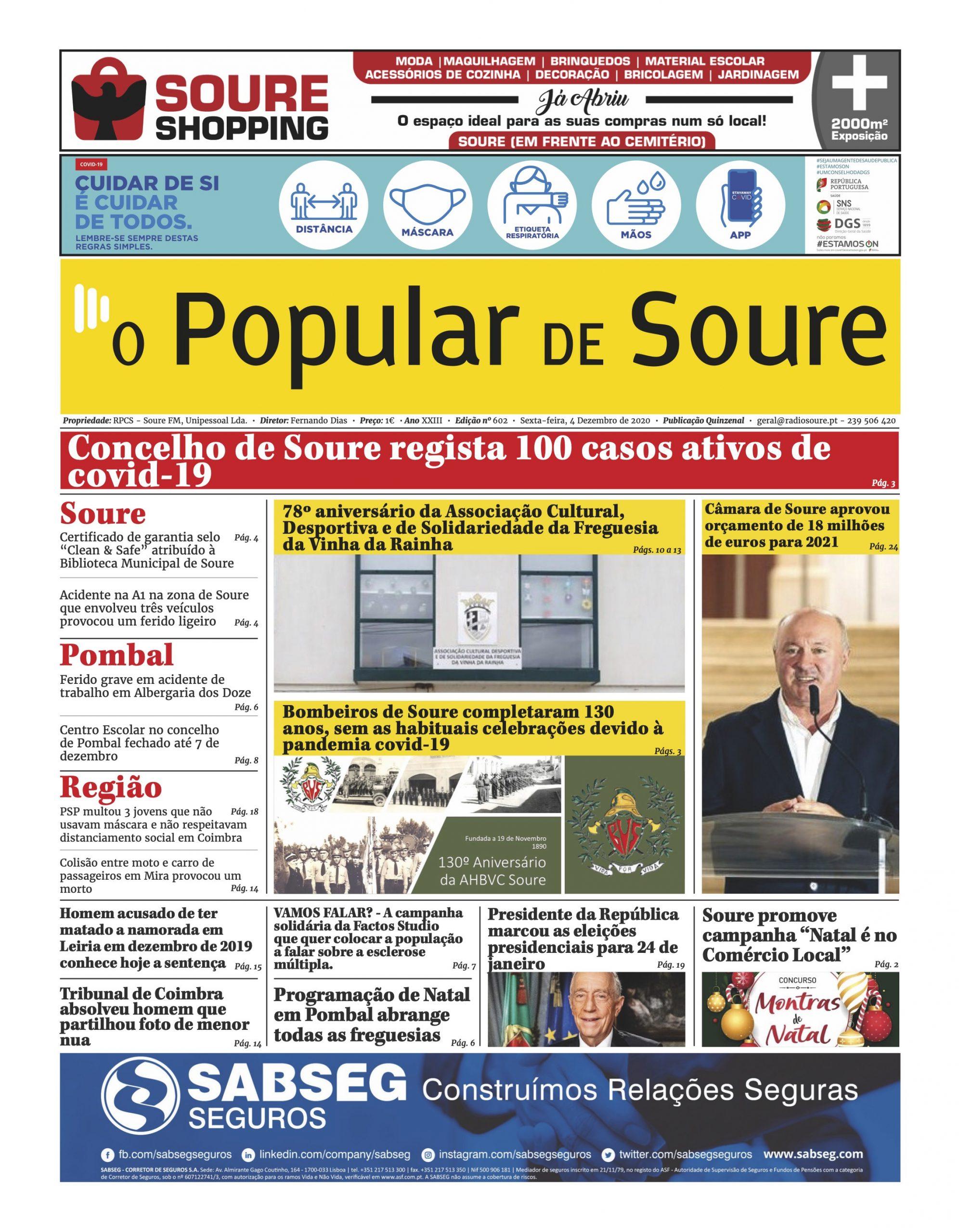 """JORNAL """"O POPULAR DE SOURE"""" Nº 602"""