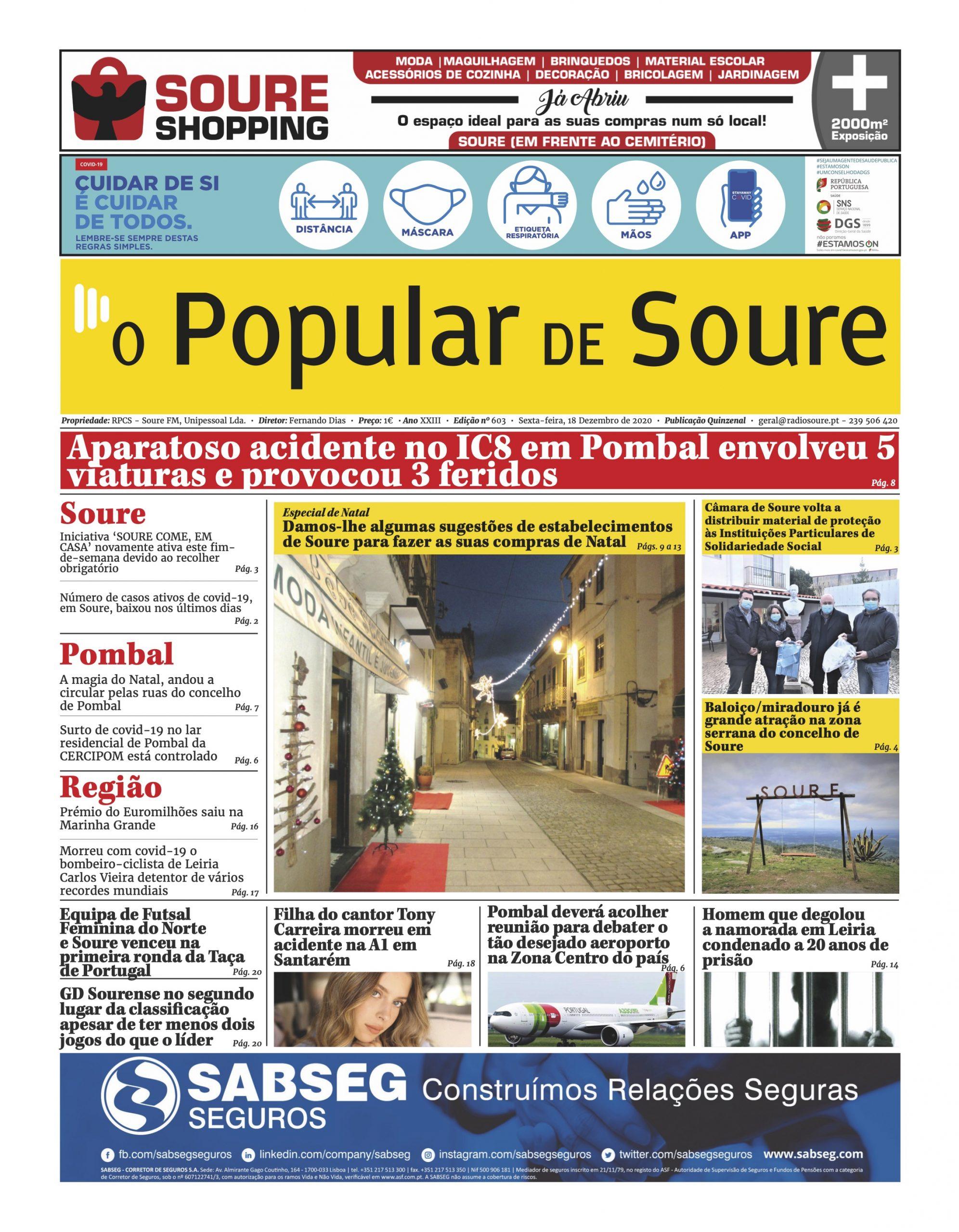 """JORNAL """"O POPULAR DE SOURE"""" Nº 603"""