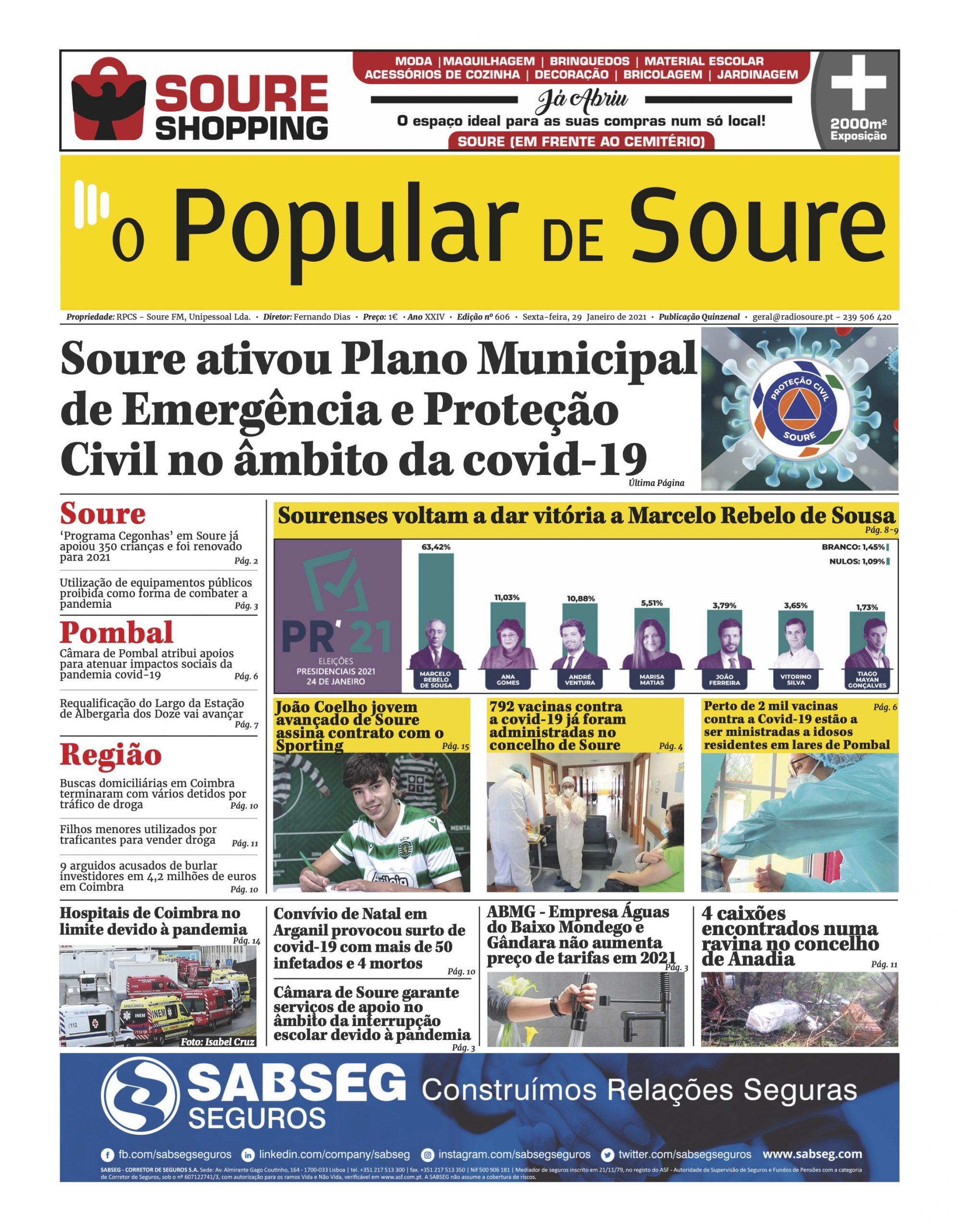 """JORNAL """"O POPULAR DE SOURE"""" Nº 606"""