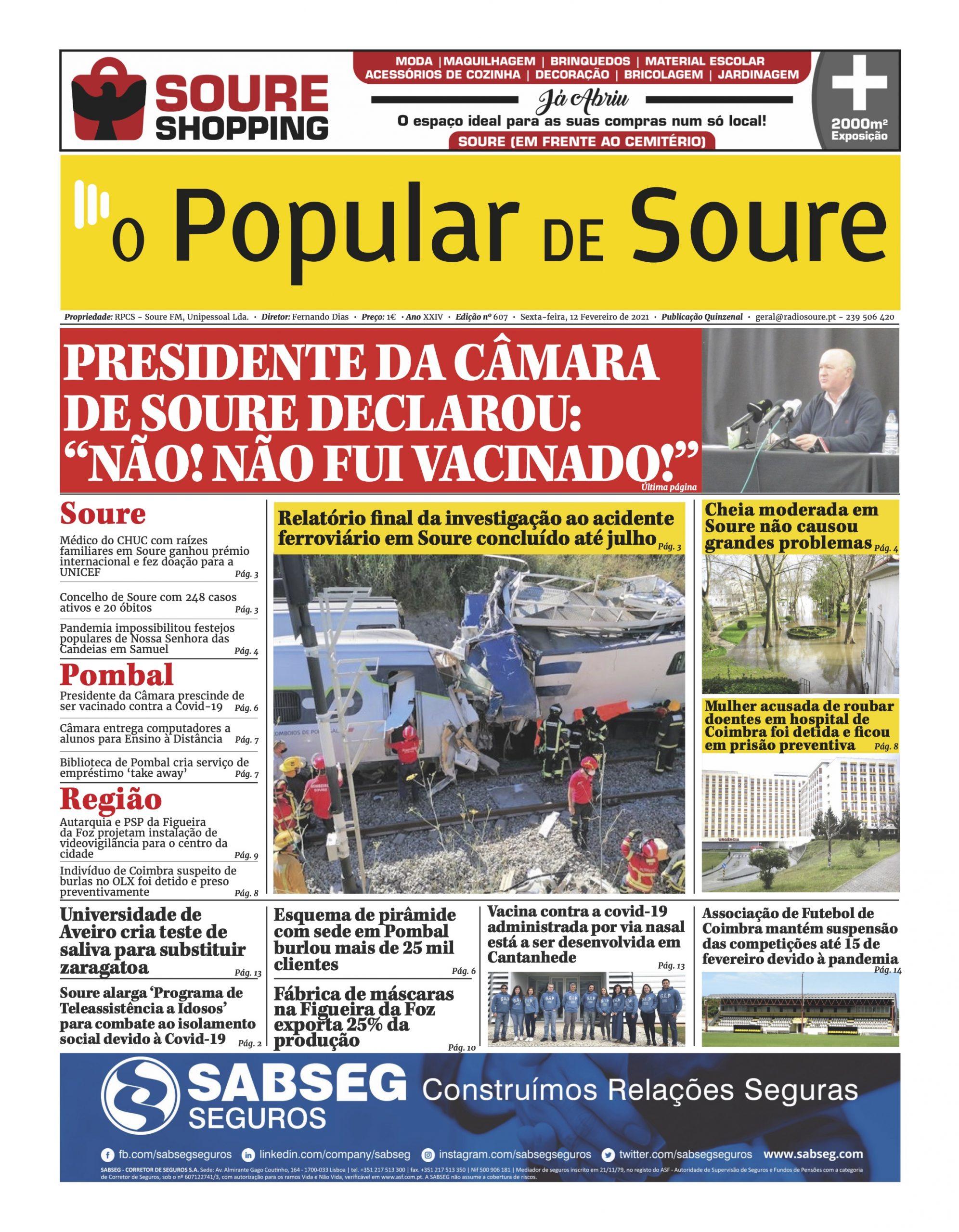 """JORNAL """"O POPULAR DE SOURE"""" Nº 607"""