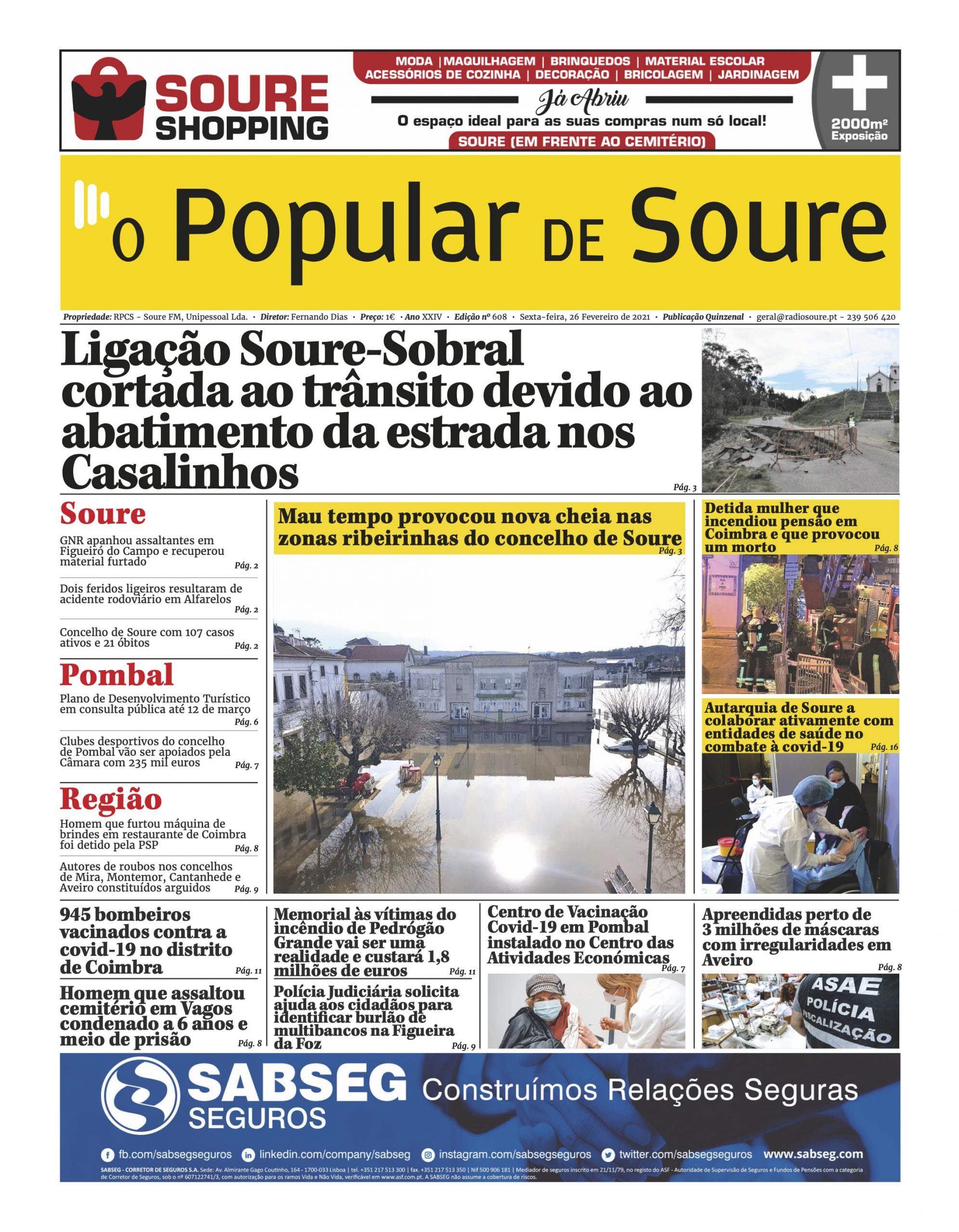 """JORNAL """"O POPULAR DE SOURE"""" Nº 608"""