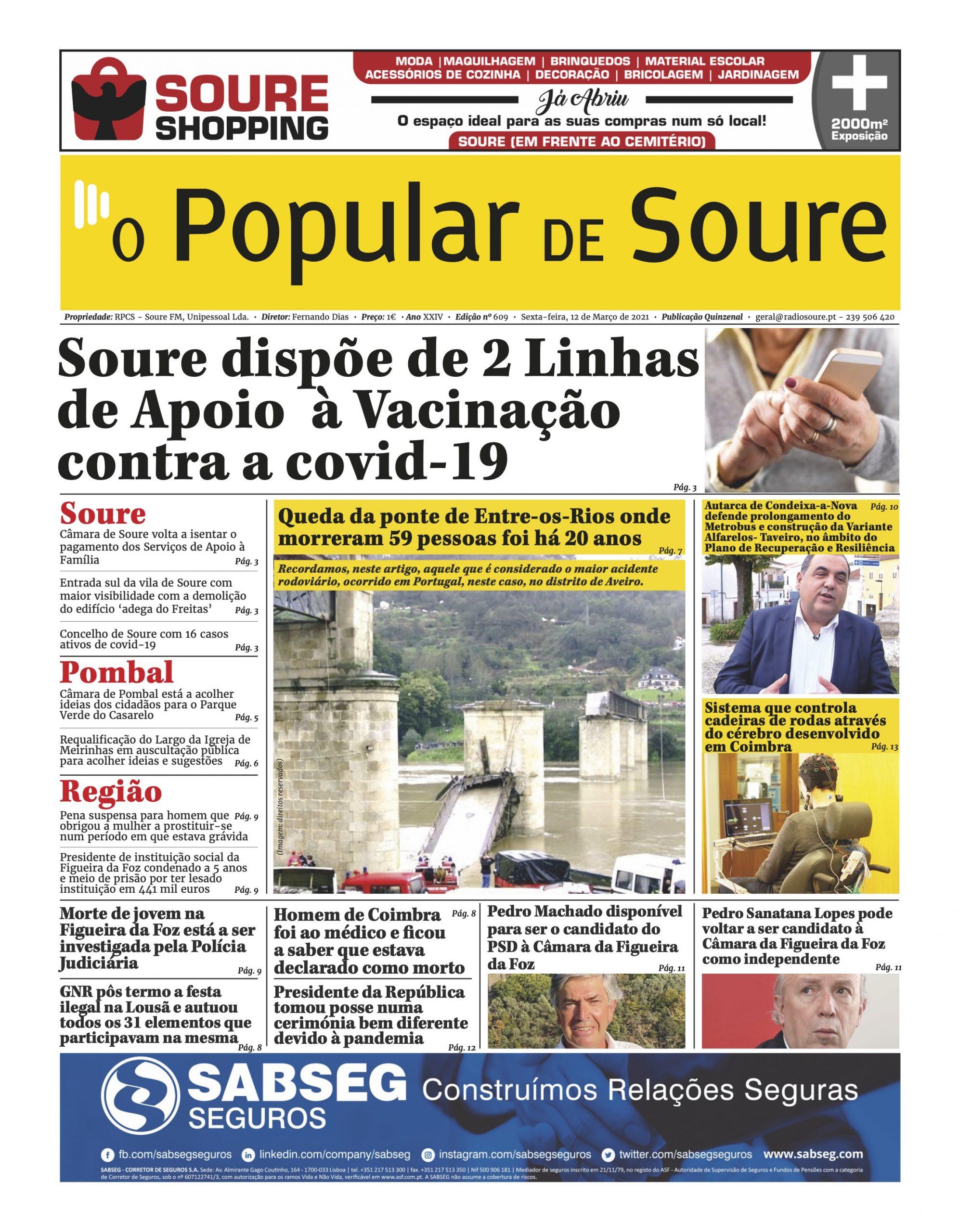 """JORNAL """"O POPULAR DE SOURE"""" Nº 609"""