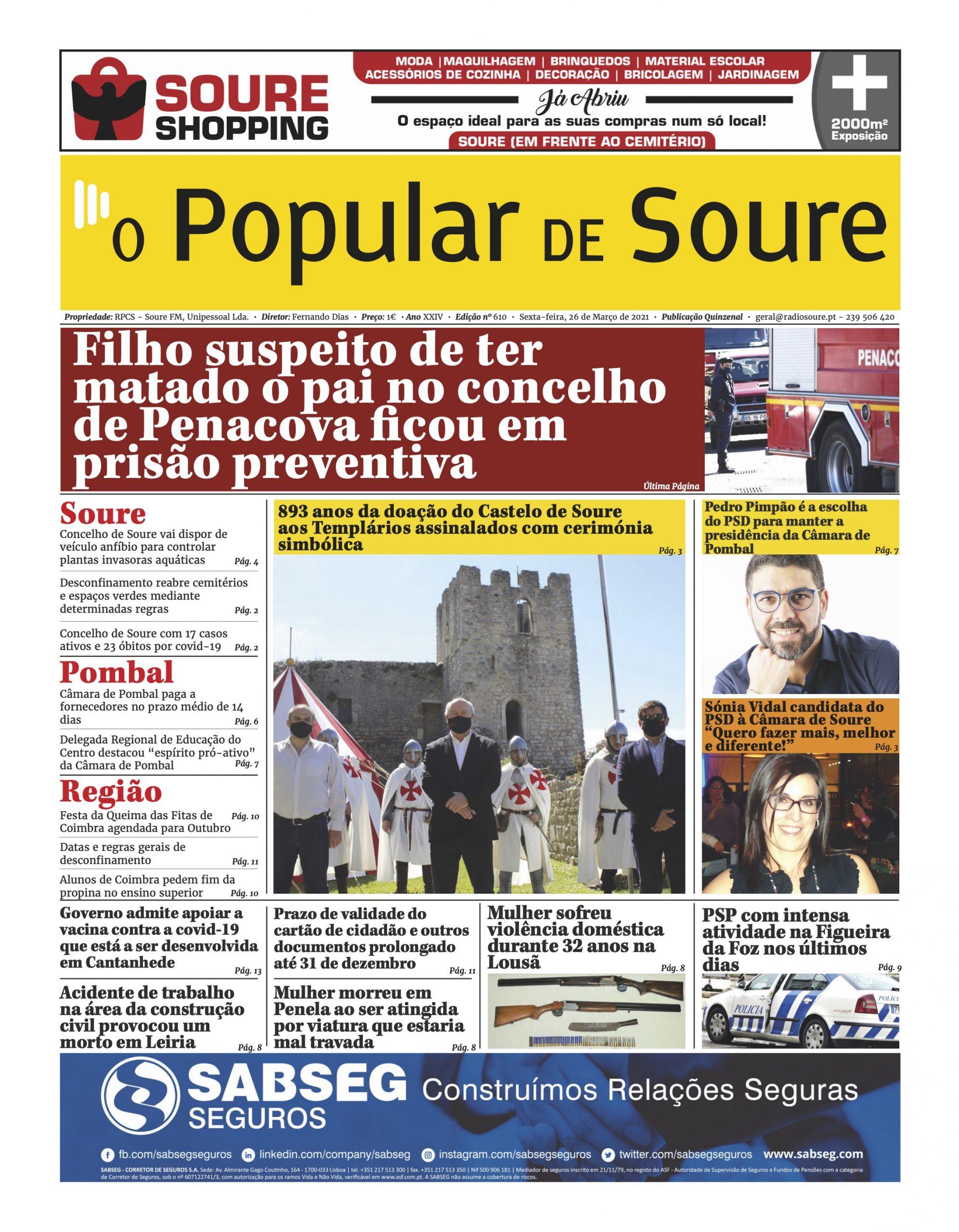 """JORNAL """"O POPULAR DE SOURE"""" Nº 610"""