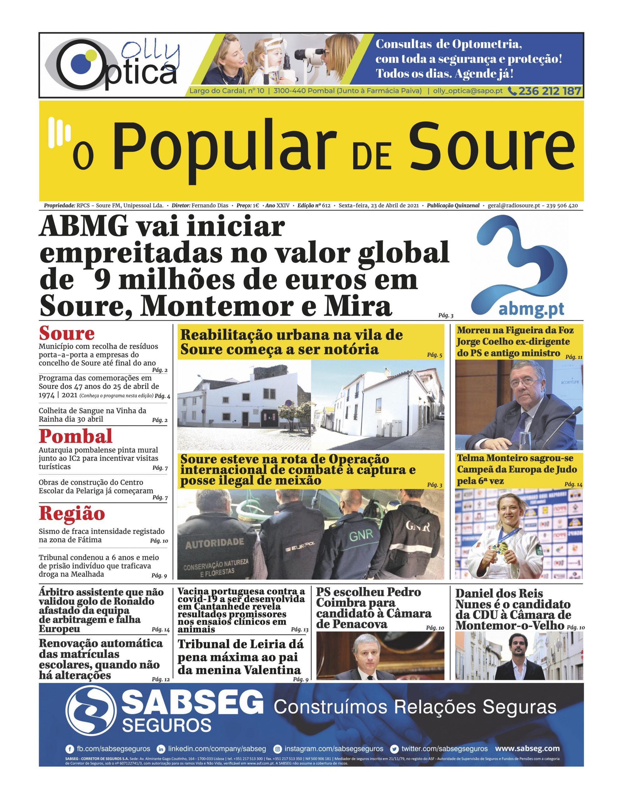 """JORNAL """"O POPULAR DE SOURE"""" Nº 612"""