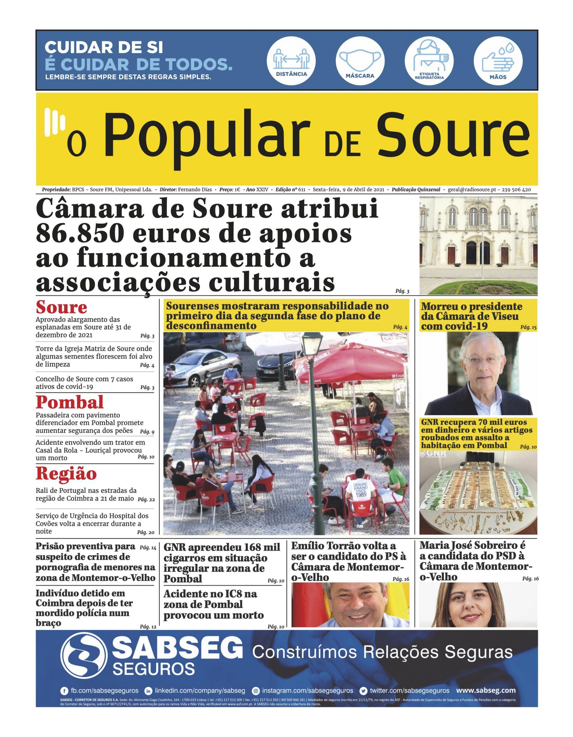 """JORNAL """"O POPULAR DE SOURE"""" Nº 611"""