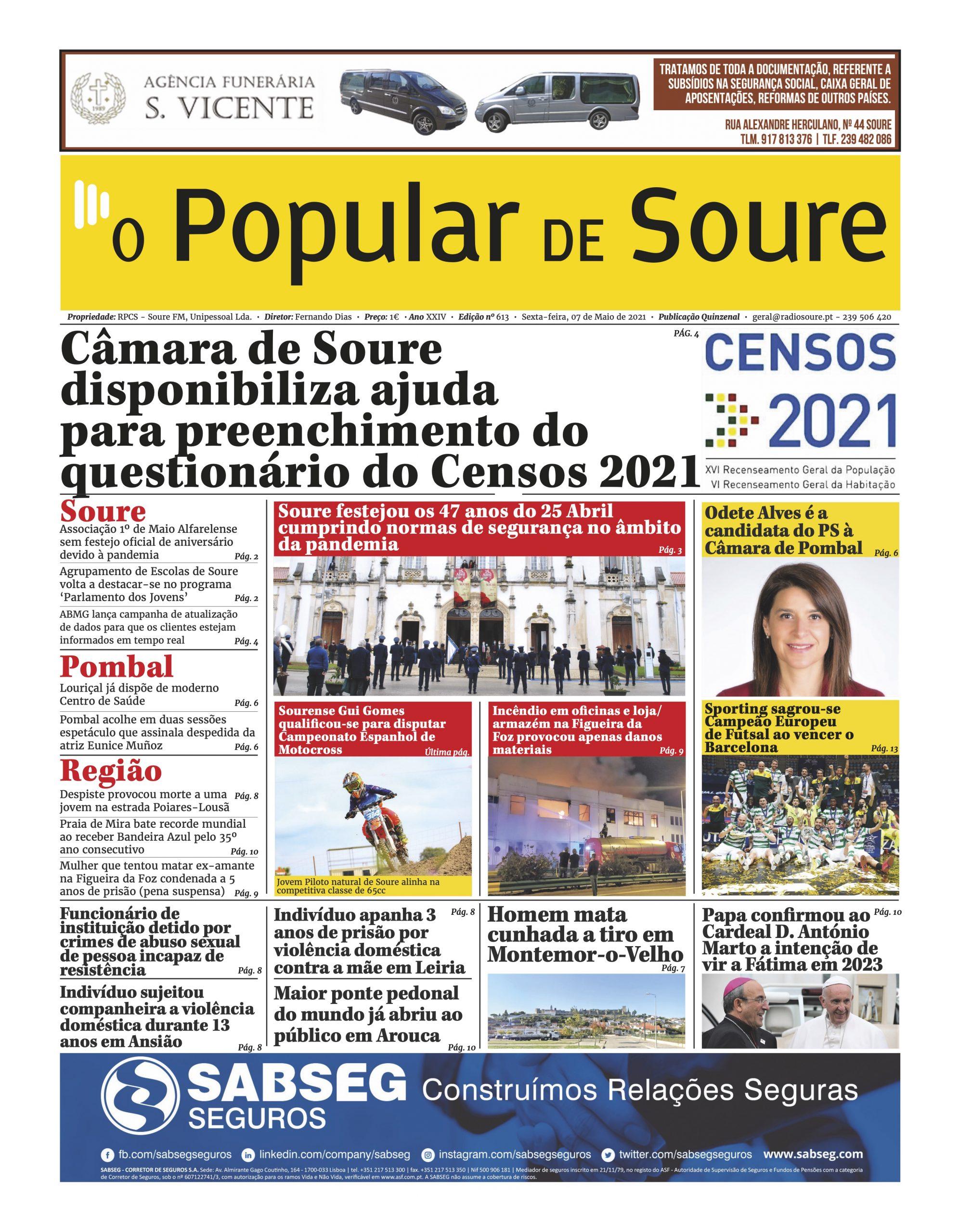 """JORNAL """"O POPULAR DE SOURE"""" Nº 613"""