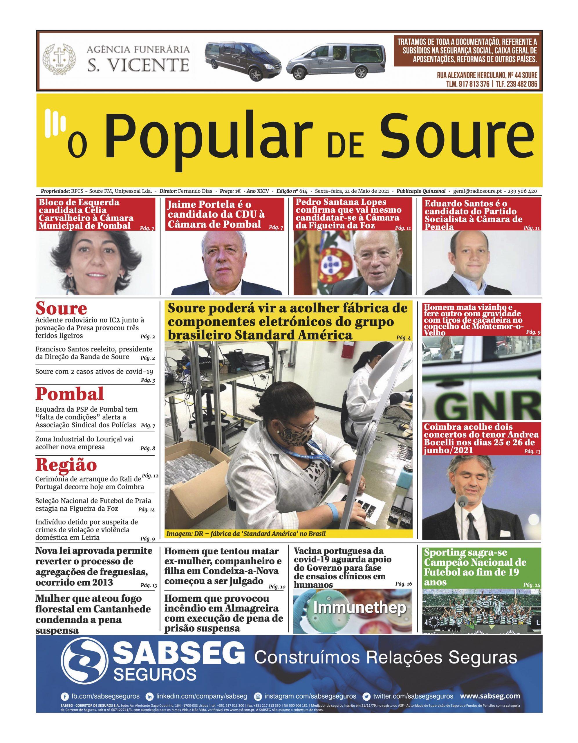"""JORNAL """"O POPULAR DE SOURE"""" Nº 614"""
