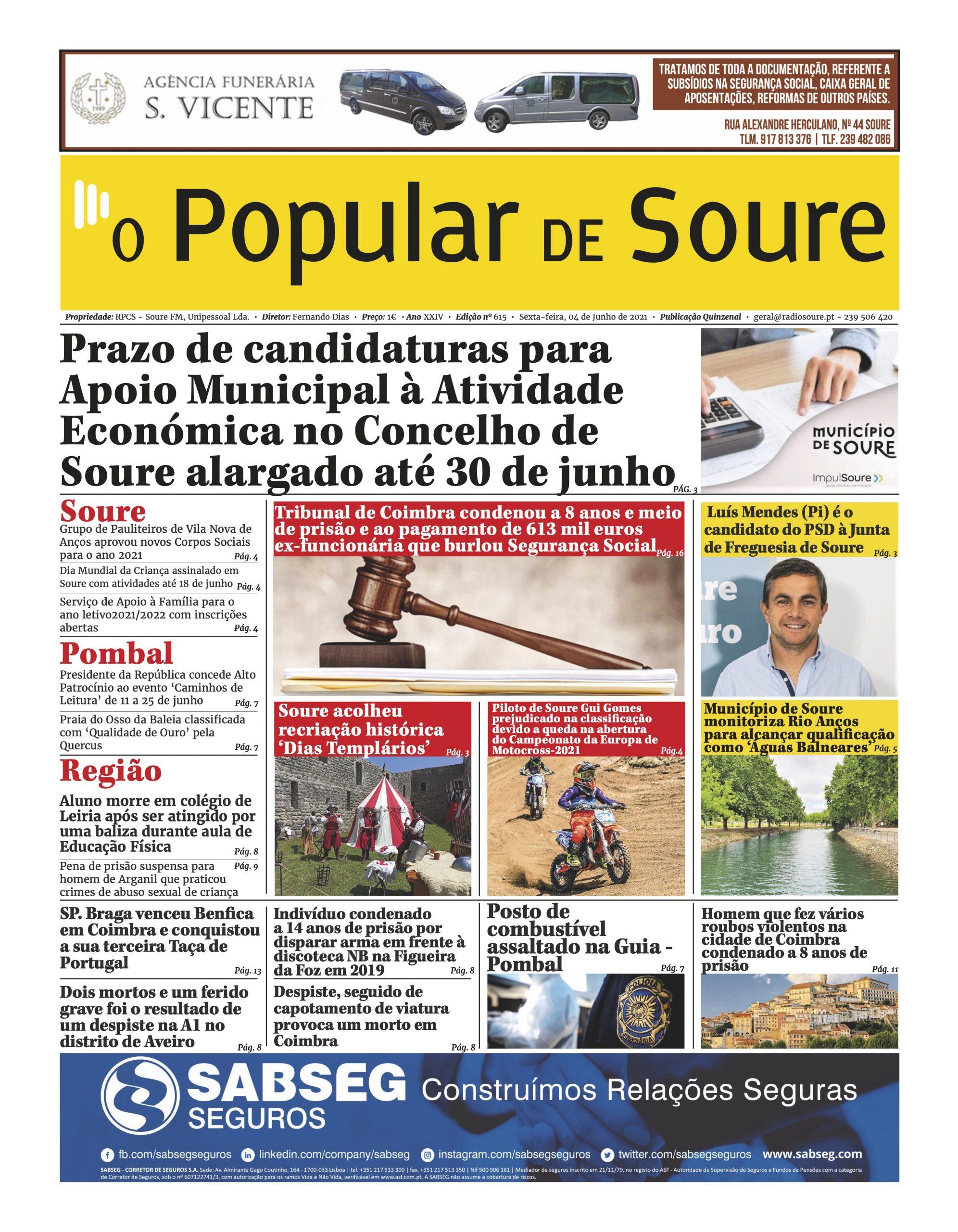 """JORNAL """"O POPULAR DE SOURE"""" Nº 615"""