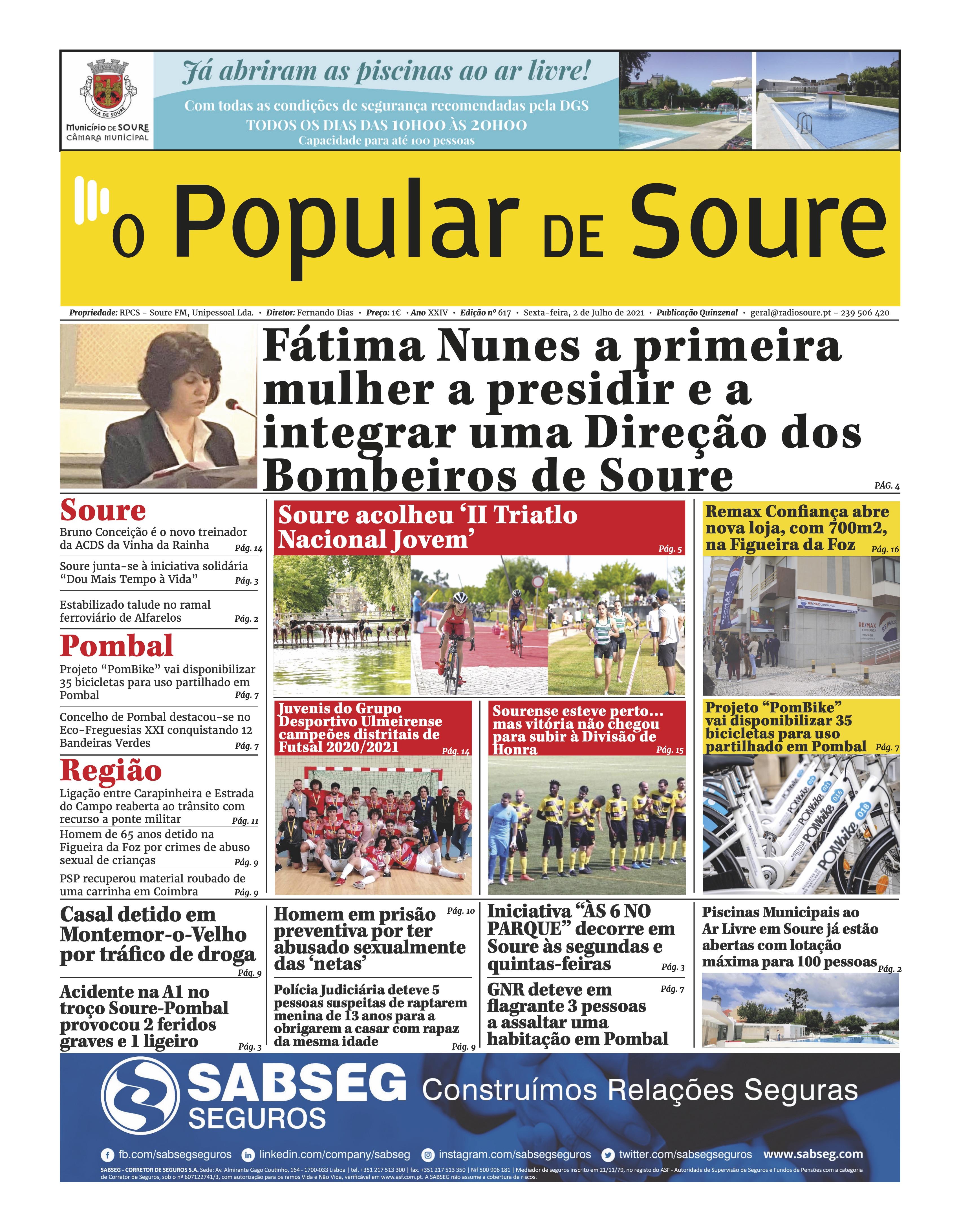 """JORNAL """"O POPULAR DE SOURE"""" Nº 617"""