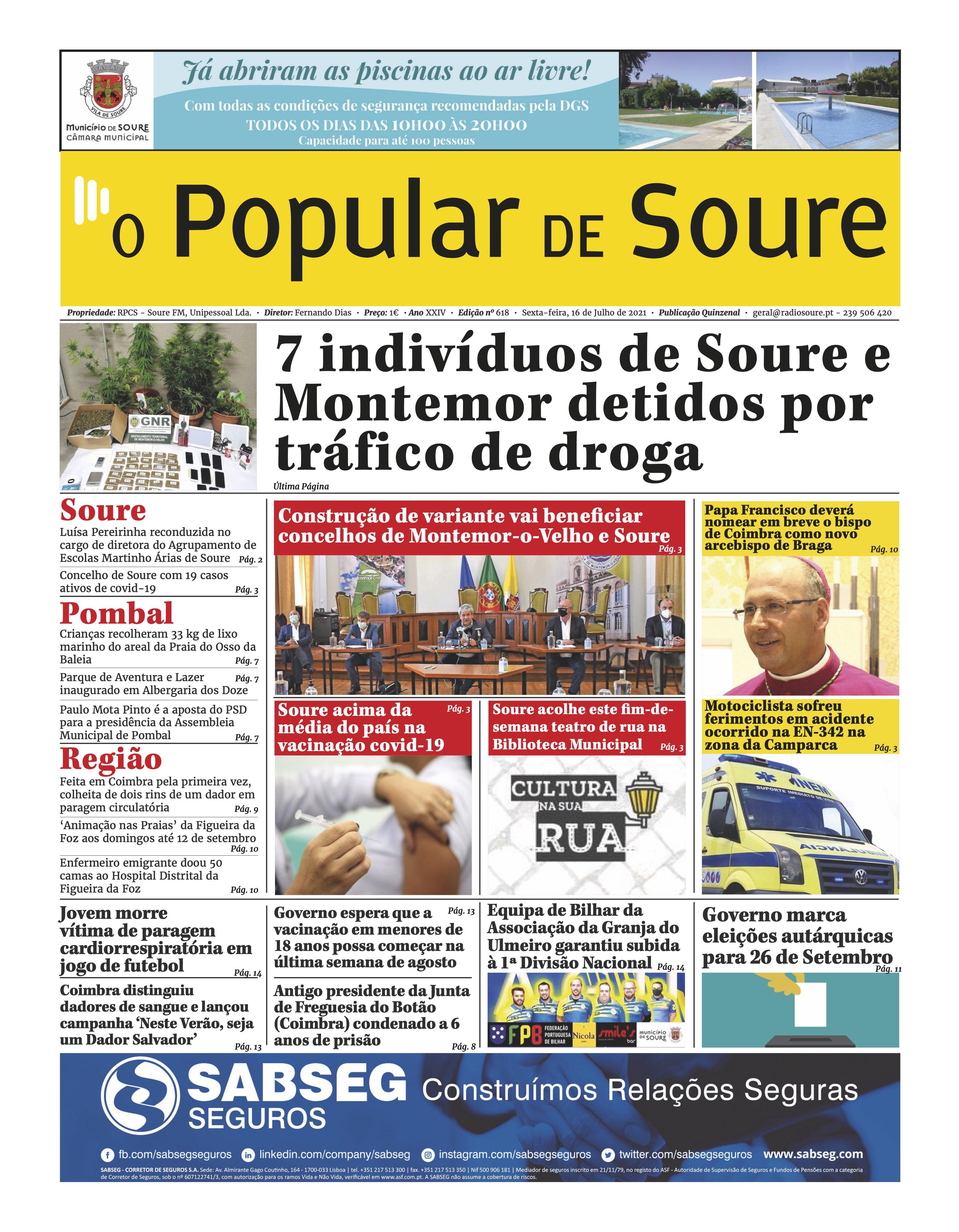 """JORNAL """"O POPULAR DE SOURE"""" Nº 618"""