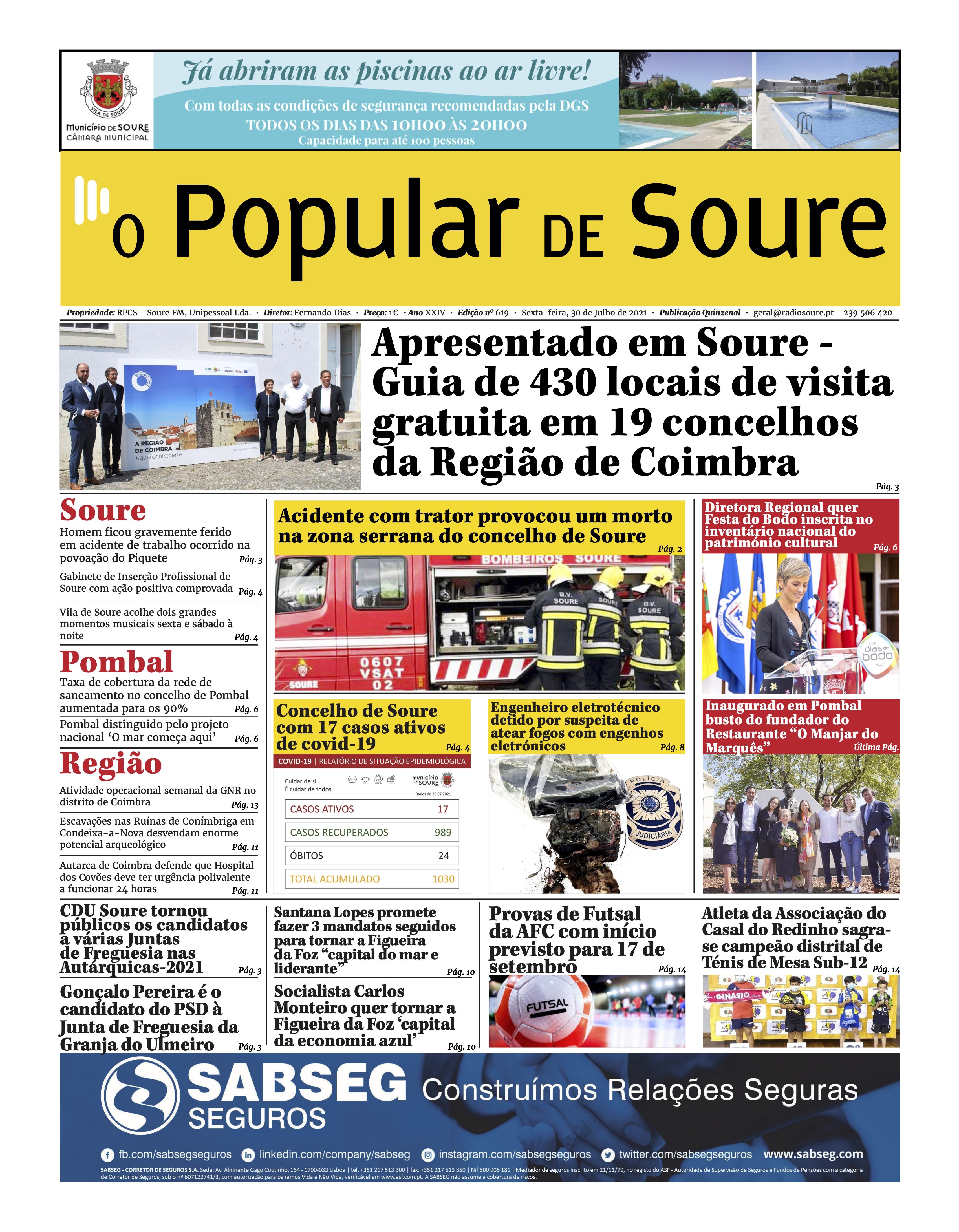 """JORNAL """"O POPULAR DE SOURE"""" Nº 619"""