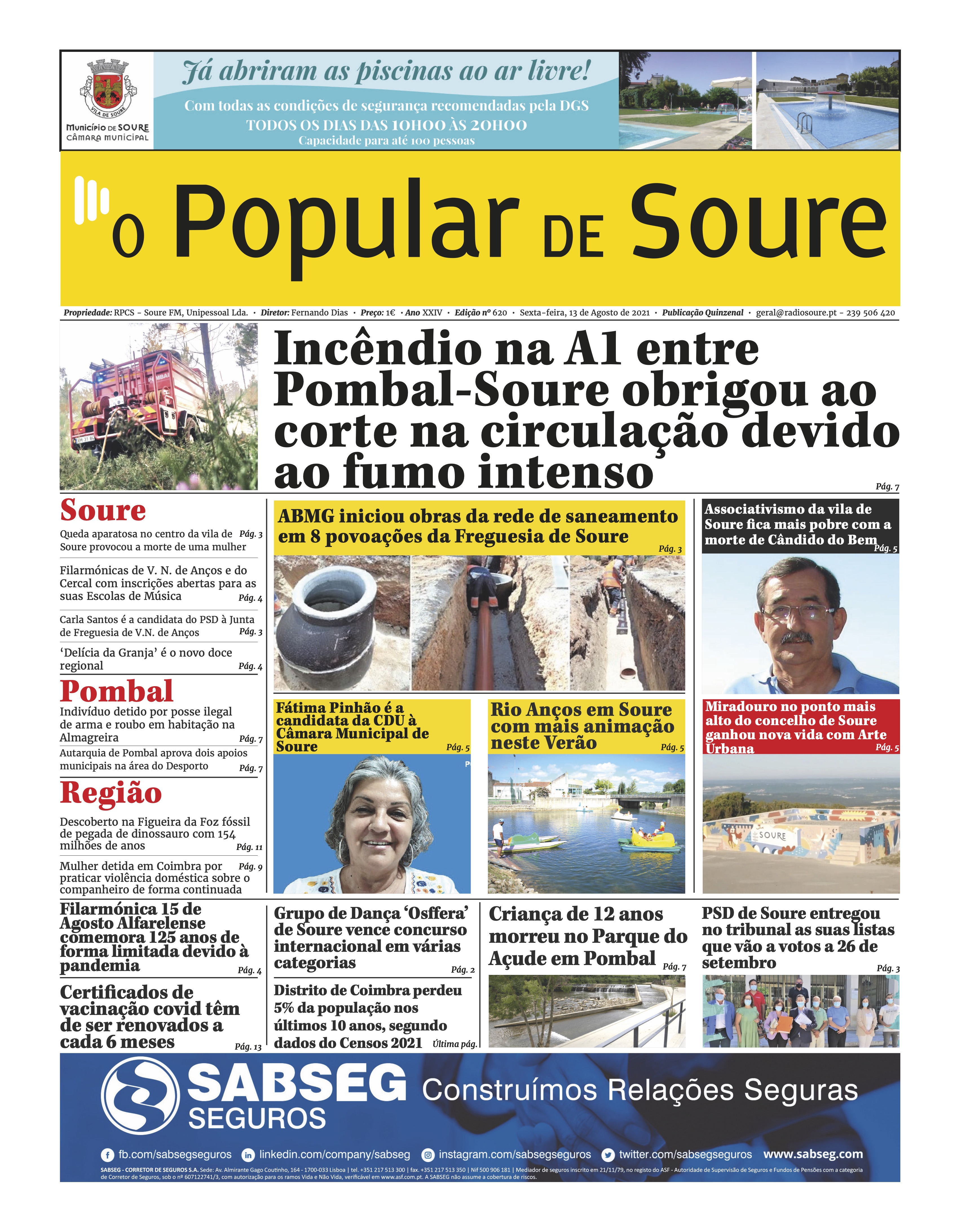 """JORNAL """"O POPULAR DE SOURE"""" Nº 620"""