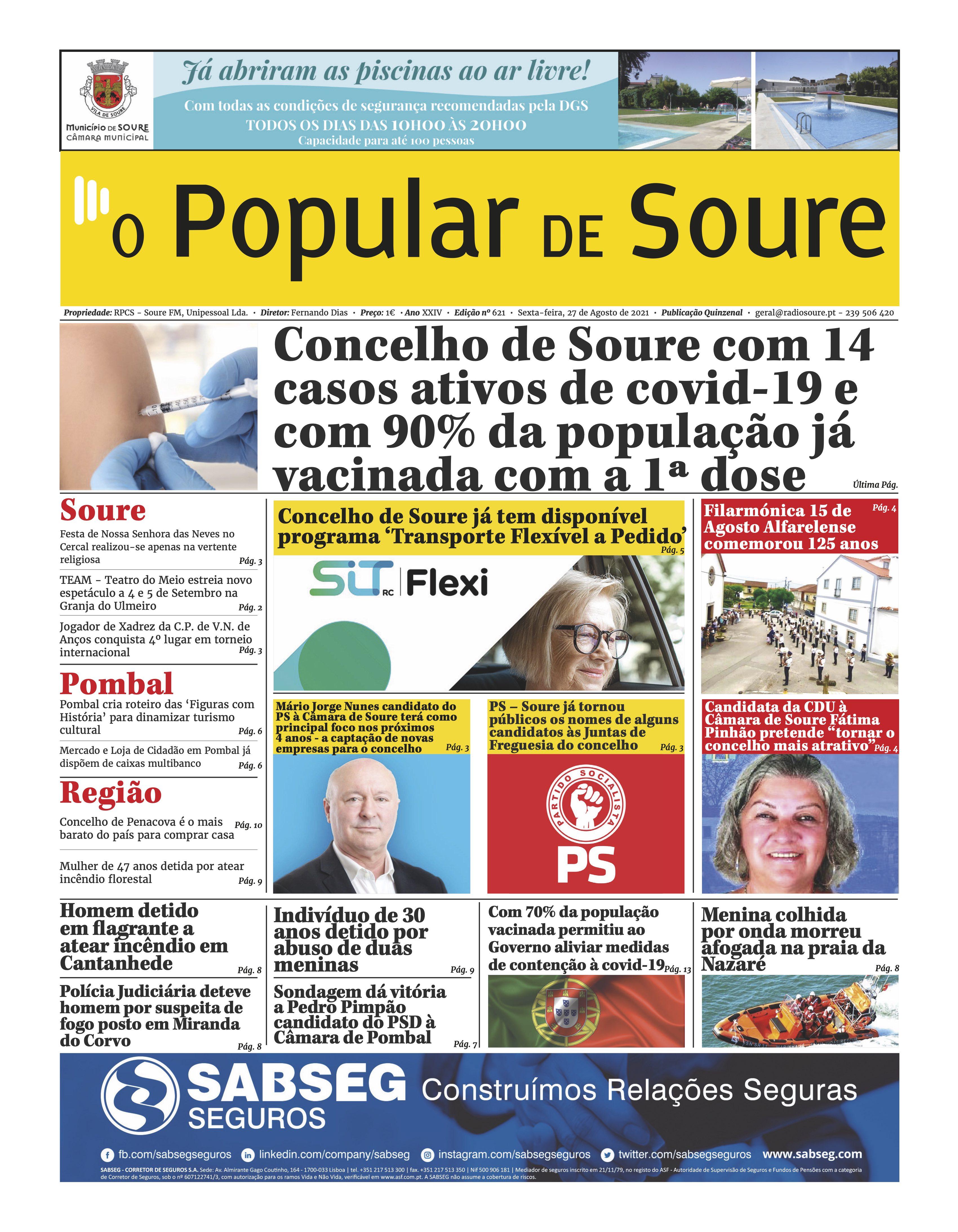 """JORNAL """"O POPULAR DE SOURE"""" Nº 621"""