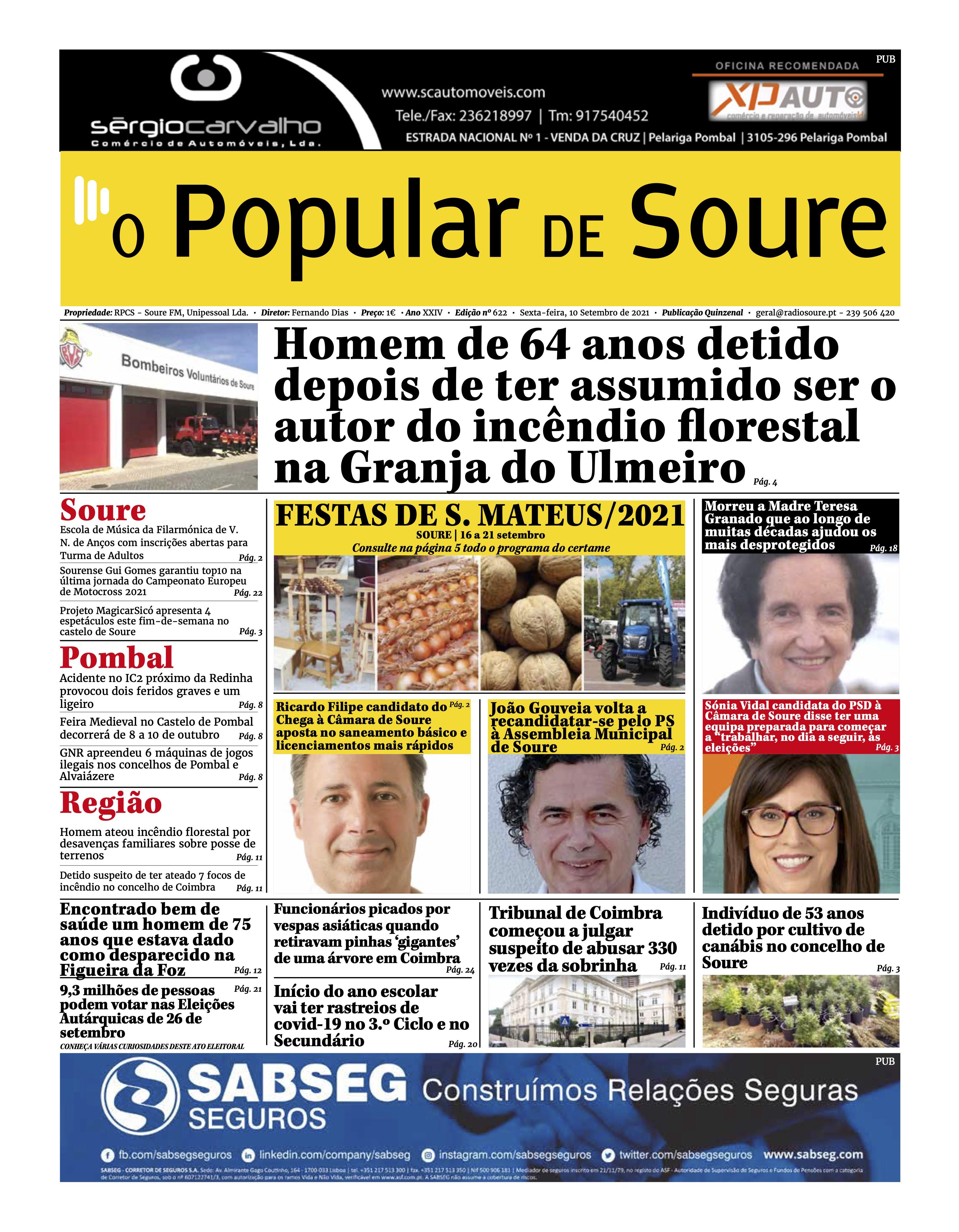 """JORNAL """"O POPULAR DE SOURE"""" Nº 622"""