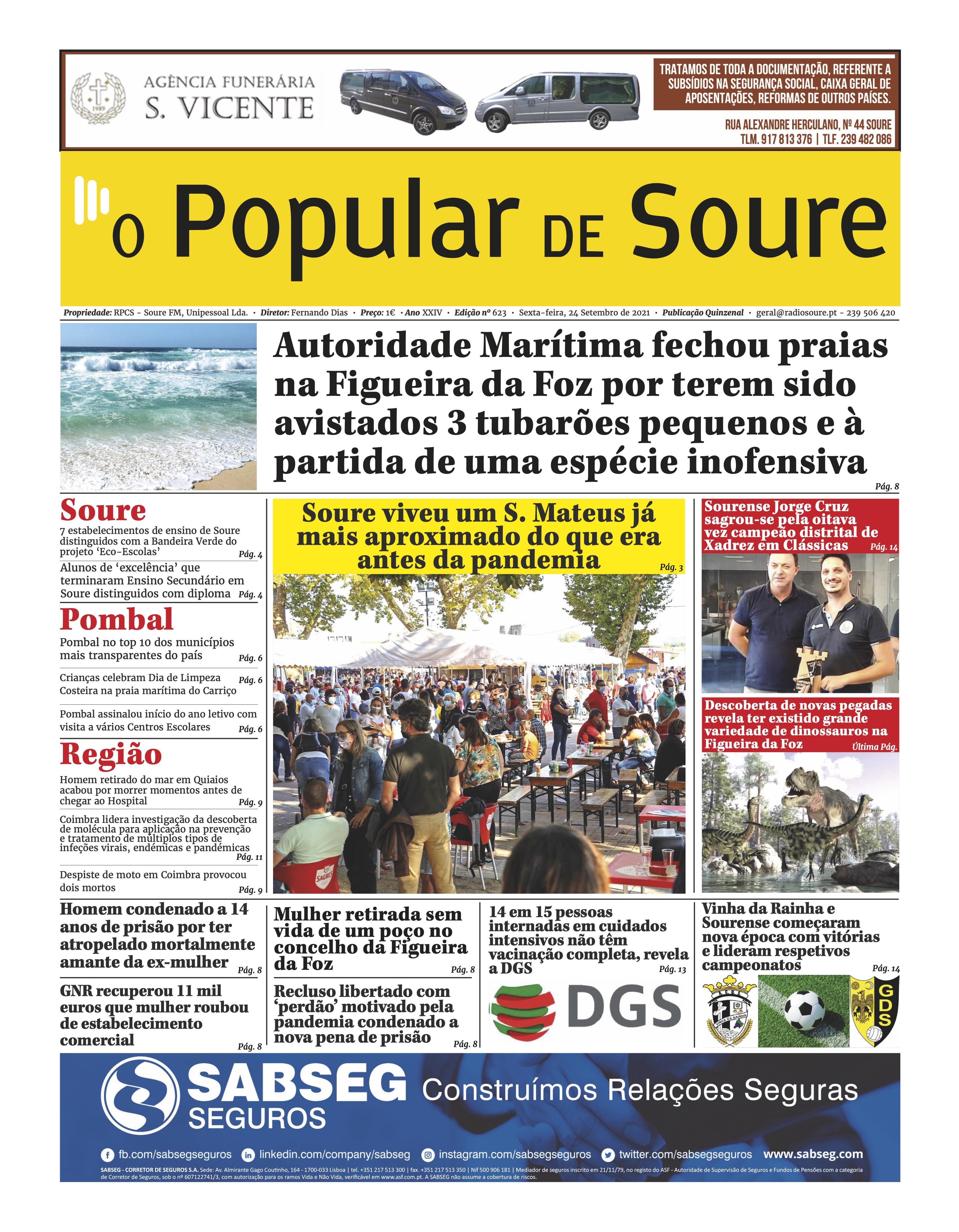 """JORNAL """"O POPULAR DE SOURE"""" Nº 623"""
