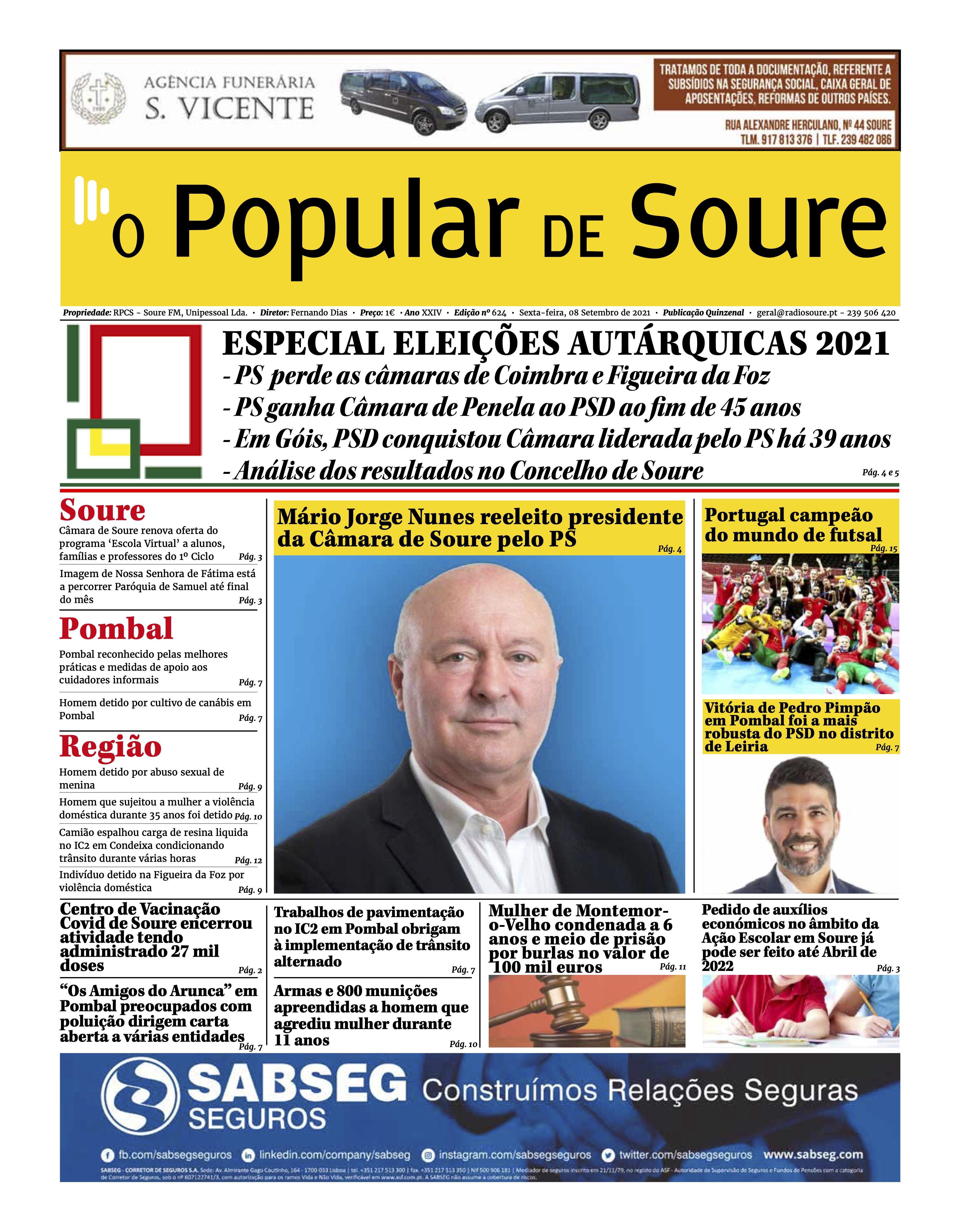 """JORNAL """"O POPULAR DE SOURE"""" Nº 624"""