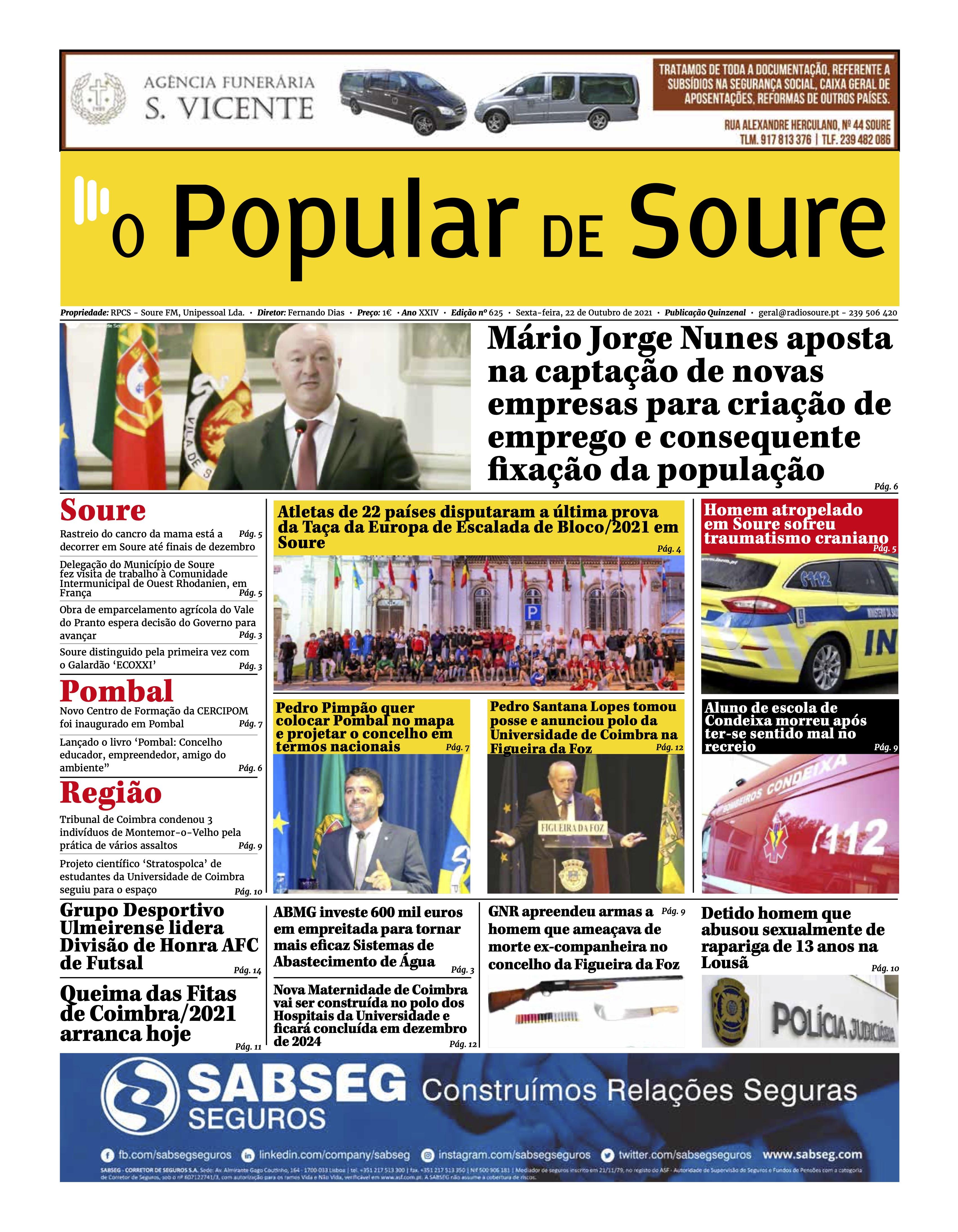 """JORNAL """"O POPULAR DE SOURE"""" Nº 625"""