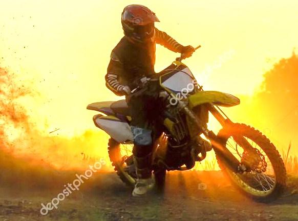 Thumbnail Depositphotos 93604562 Stock Photo Silhouette Motocross Speed In Track